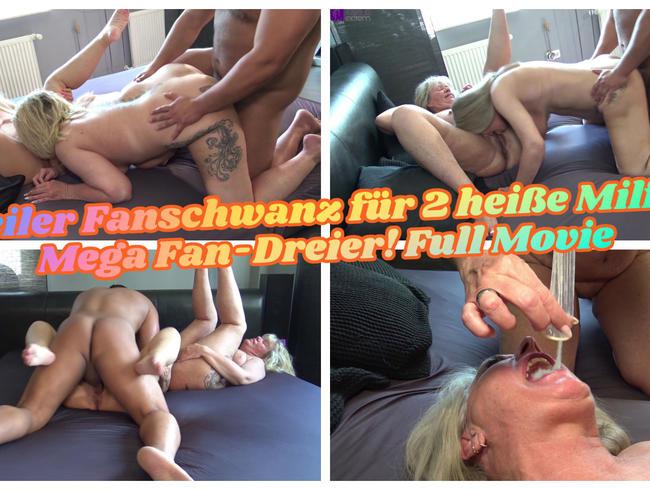 Spaß im Bett mit Riesendildo - Nahaufnahme